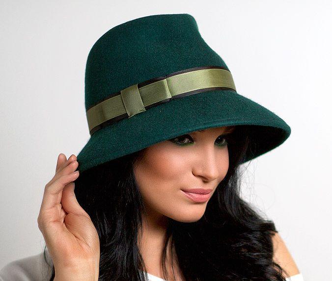 hat, hats, Anna Andrienko, зеленый, купить шляпу, купить фетровую шляпу, купить…