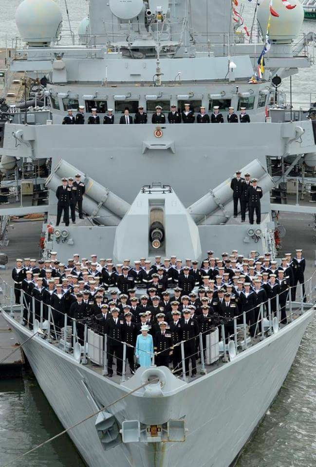 Queen Elizabeth with the Royal Navy