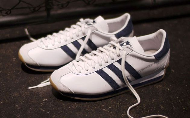 Adidas Country Original, in white with green stripes, which I wore in high school in the 70's for gym class with my green (with white piping) gym shorts.