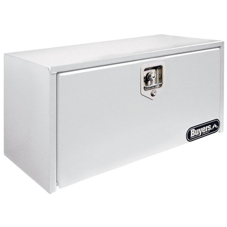 Buyers Steel Underbody Tool Box White - 1702405