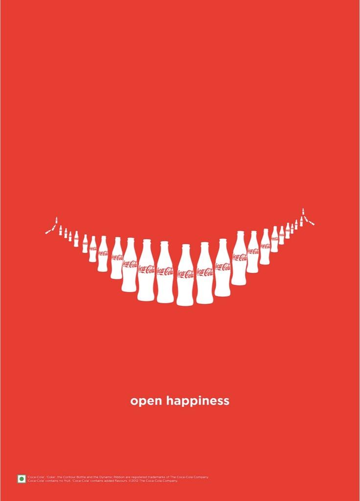 Coca Cola bottles smile