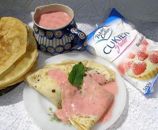W Mojej Kuchni Lubię.. : naleśniki budyniowe z musem jogurtowo-truskawkowym...