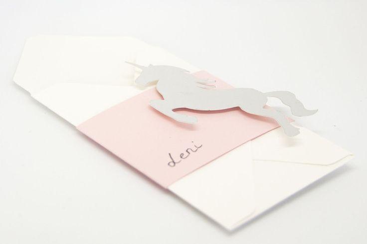 """Servietten & Serviettenringe - Bestecktasche """"Einhorn"""" - ein Designerstück von PartyZeit bei DaWanda"""
