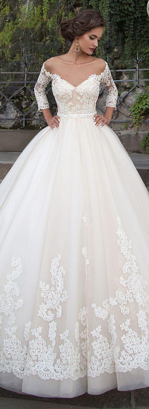 2017 a-line off shoulder wedding dresses