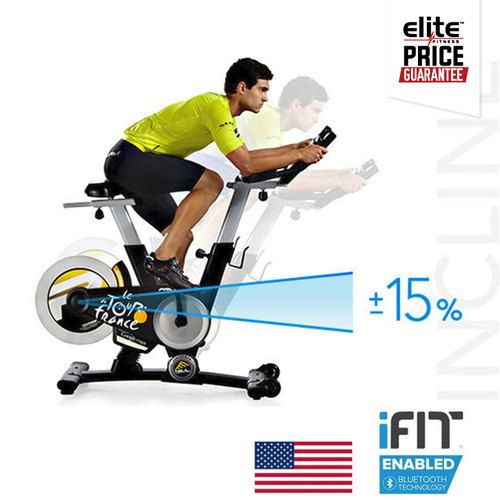 PROFORM TOUR DE FRANCE 1.0- Official Training Bike of Le Tour de France- Watts LED Display- 15% Incline, 15% Decline- iFit® Bluetooth® Smart Enabled with Google Maps™- Max User Weight 150Kg