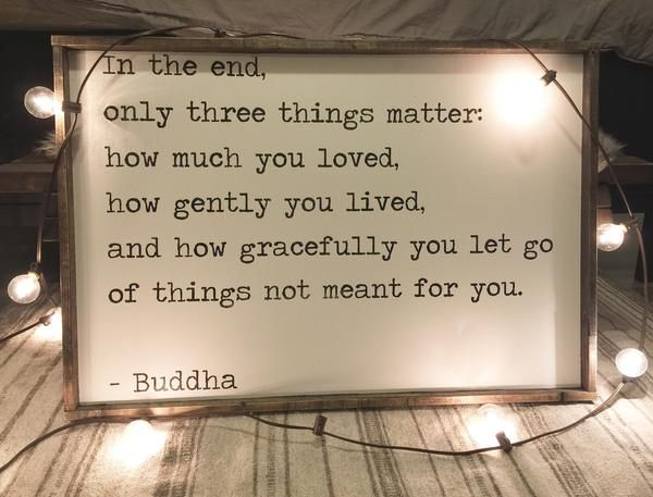In The End | Buddha Quote  ~ Made from quality wood | latex paint | wood stain ~ All signs come ready to hang with wire backing ~ Measurements are approximate a