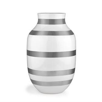 Omaggio Vase silber - groß - Kähler