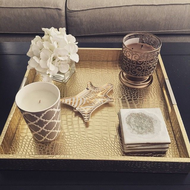 Coffee Table Tray Setup Love Gold Home Homedecor Homegoods