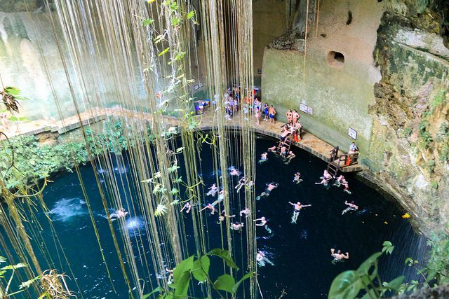 Cenote Ik-Kil by fjmmblue, via Flickr