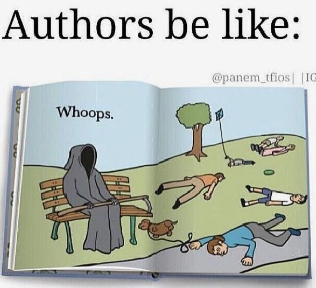 "I don't think it's a ""whoops"" with authors. They're soul-sucking demons who feed on our happiness. And I should know. I am one"