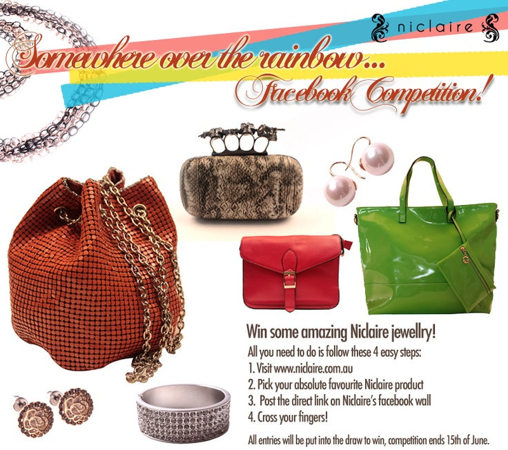 We've just put up a new competition on facebook! Just share your favourite Niclaire item on our wall, to go in the running to win some beautiful Niclaire Jewellery!