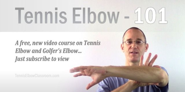 Tennis Elbow 101 is a free video intro course on Tennis and Golfer's Elbow: Test, assess and diagnose yourself, learn more about the real cause and true nature of your injury – And discover a better treatment strategy – The 1st step to beating it is understanding it! - https://tenniselbowclassroom.com/what-is-tennis-elbow-1/free-tennis-elbow-videos/ - #TennisElbow #GolfersElbow #LateralEpicondylitis #MedialEpicondylitis