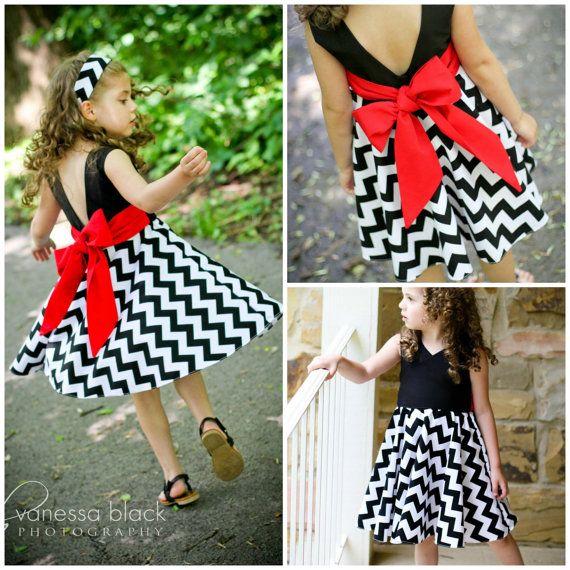 Donna Dress voor meisjes 12M-12Y PDF patroon & door Petitekids