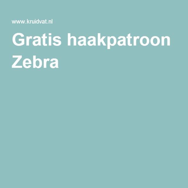 Gratis haakpatroon Zebra