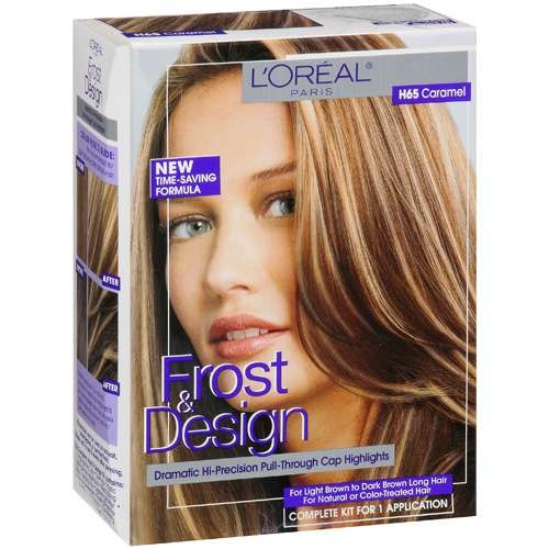 Frost & Design for long hair. includes a violet wash to banish brasiness. $15. i'm done spending $$ at the salon.