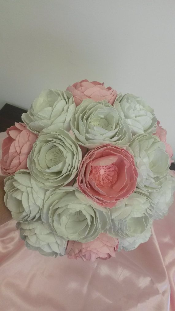 Ranunculus Bridal Bouquet  Paper Bouquet Wedding by PoshStudios,