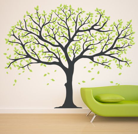 wall sticker NATURE & ANIMALS Albero grande grigio big