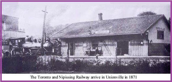 Unionville, Ontario - Toronto & Nipissing Railway - p1871