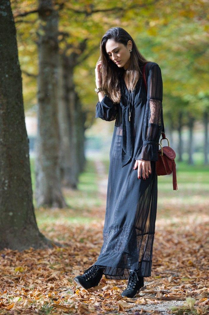 c443d15863f Vetement hippie chic robe longue pas cher ma robe d aujourd hui automne  tenue bohème longue