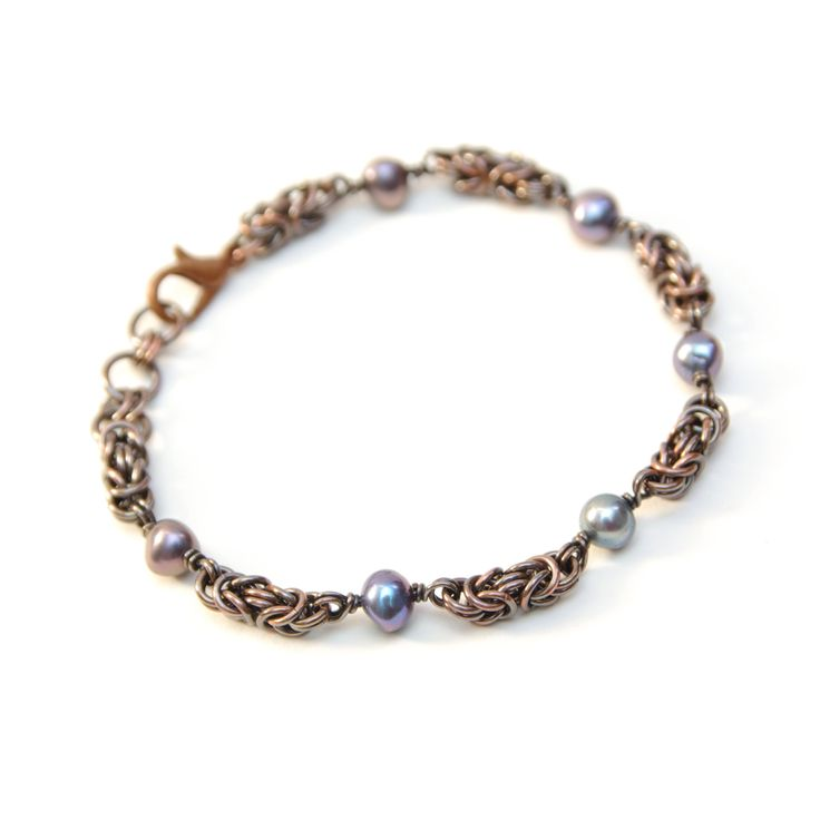 7th Wedding Anniversary Gift Ideas For Her: Pearl Jewelry, Copper Bracelet, Chainmaille Jewellery