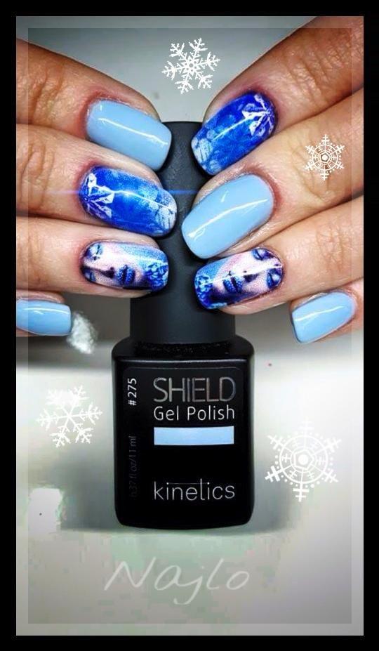 Zimny błękit hybrydowy Shield KGP275S i wzorki Najlo. Idealne połączenie na zimę ❄️