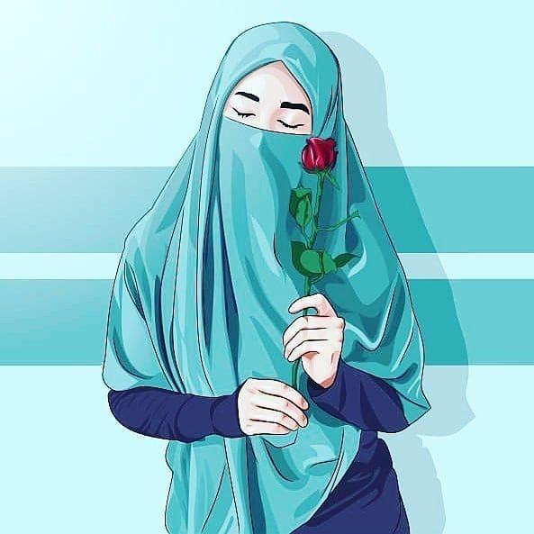 Kartun Muslimah On Instagram Kau Tahu Mengapa Bunga Mawar Memiliki Duri Yang Begitu Tajam Karena Tidak Sembara Ilustrasi Karakter Gadis Animasi Seni Islamis