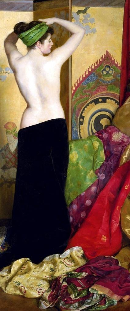 Pomps and Vanities, 1917 John Collier Detail ...