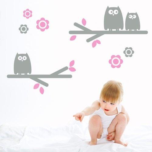 Kids Wall Decal Owls - Vinyl Wall Decals - CoolWallArt: Owl Wall, Decal Owls, Owls Wall, Owls Sitting, Bellakoola Kids, Kids Wall Decals, Vinyl Wall Decals, Kids Rooms