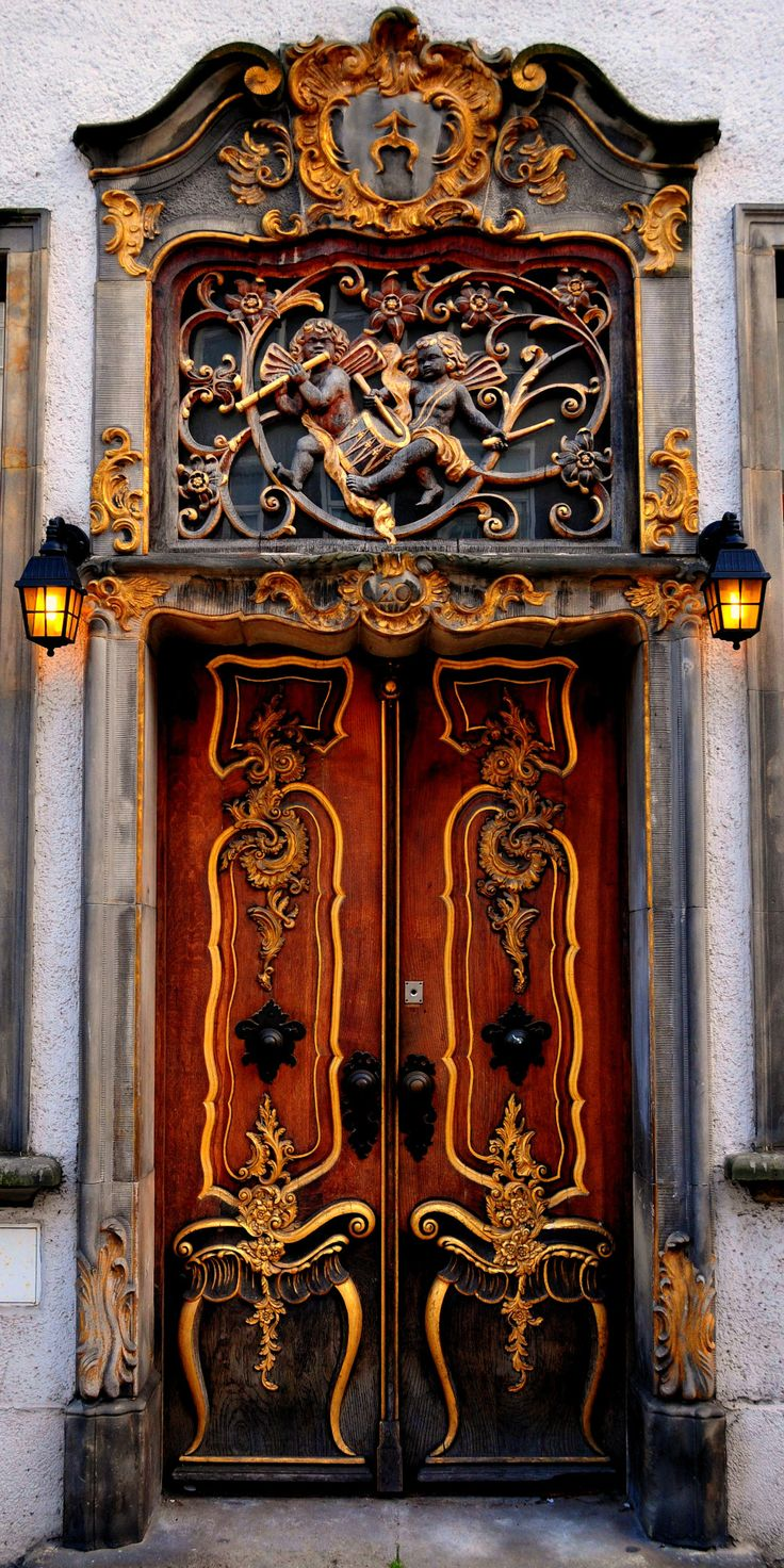 "gyclli: "" An interesting door in Gdansk  by Roman Art """