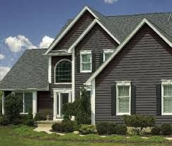 Image Result For Charcoal Gray Vinyl Siding Painting Vinyl Siding Insulated Vinyl
