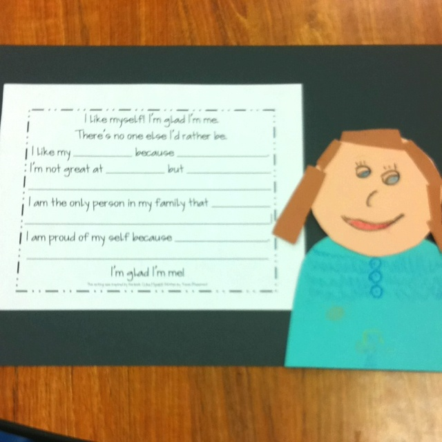 I Like Myself Worksheets : Quot i like myself writing and self potrait inspired by the