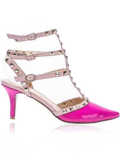 Pantofi decupati roz cu tinte de la #SheInside #TransportGratis #International . Sunt foarte frumosi si merita investitia. #PantofiCuTocStiletto