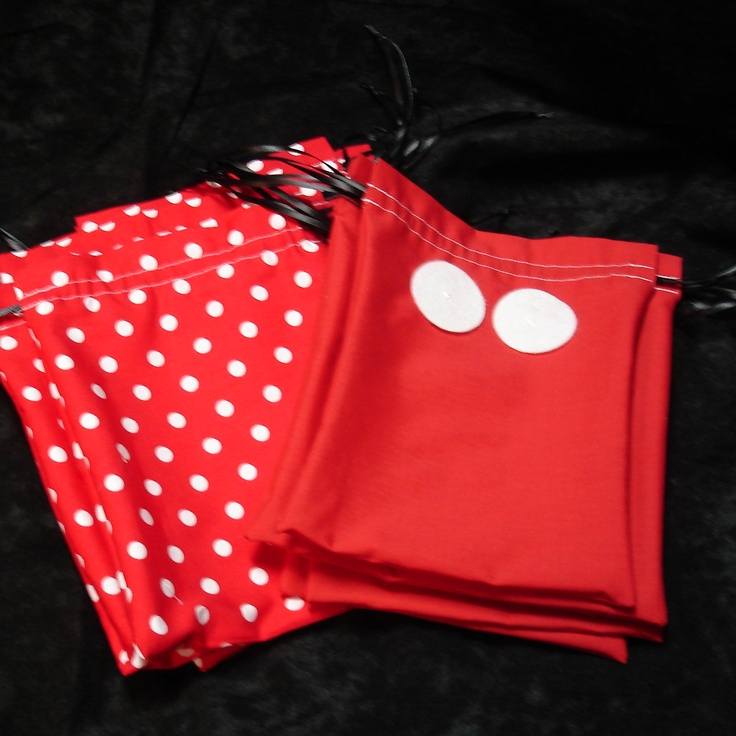 Mickey and Minnie Mouse party | Mickey and Minnie Mouse Themed Party Bags by handmadebysam on Etsy
