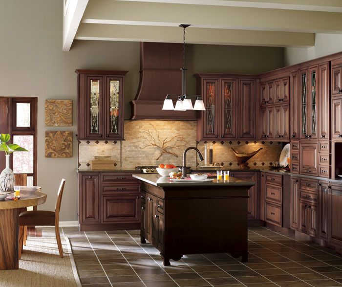 Paint Colors With Medium Oak Kitchen Cabinets: Mahogany Stain, Paint Colors And Oak Color