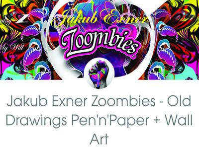 Jakub Exner Zoombies - Old Drawings Pen'n'Paper + Wall Art by Jakub Exner Zoombies