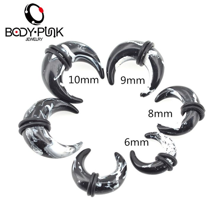 Aliexpress.com : Buy BODY PUNK Fake Body Piercing Jewelry Ear Stretching Black White Marble Stone Pincher Ear Tapers Fake Ear Expander Plug Tunnel from Reliable plug tunnel suppliers on Body Punk Official Store