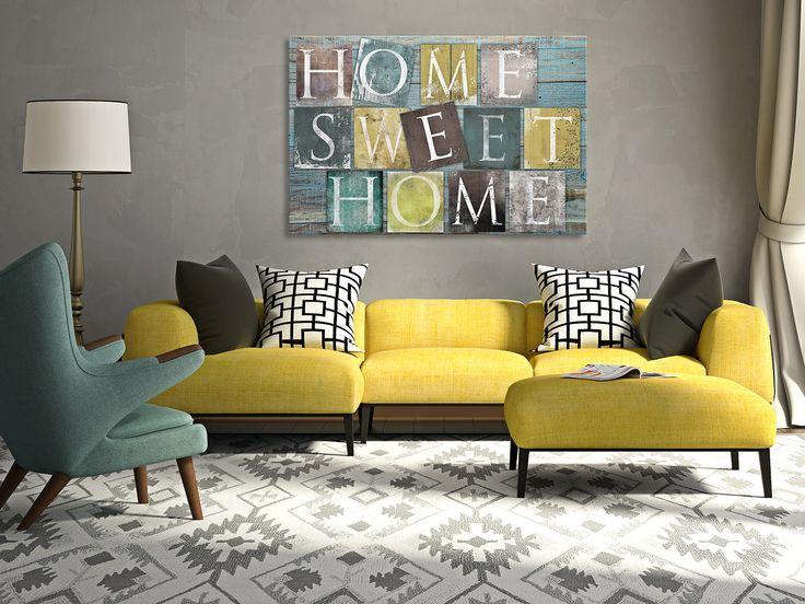 34001 Obraz na płótnie - HOME SWEET HOME - 120x80