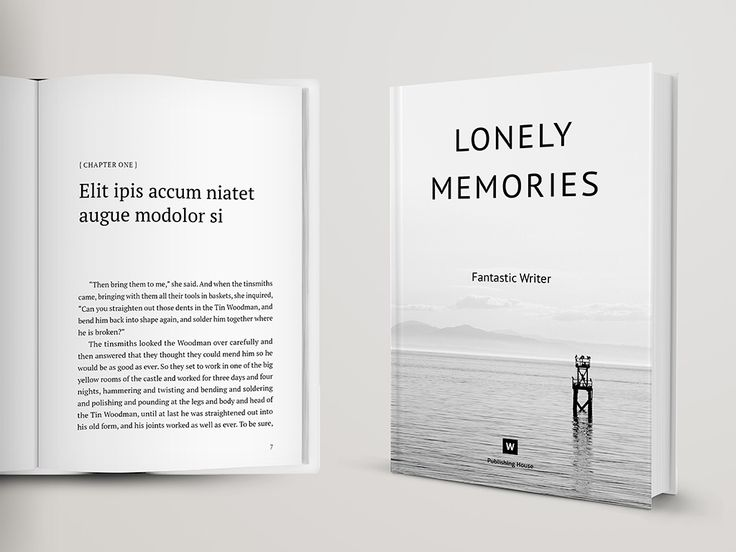Novel and Poetry Book Template – InDesign Template This is NOT a ...