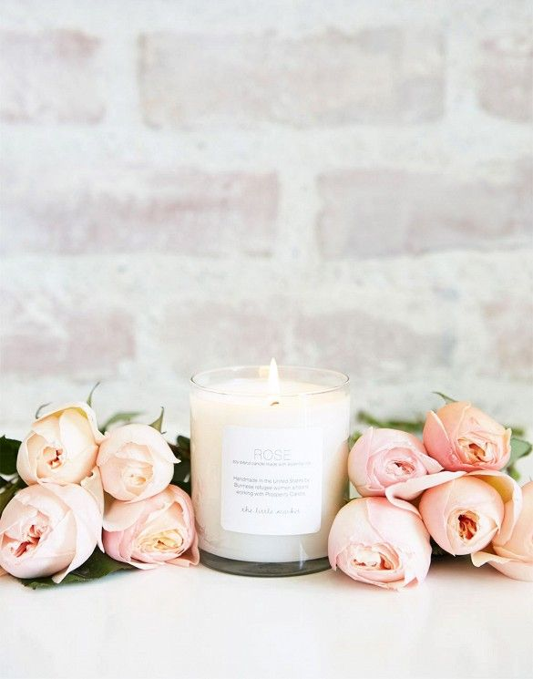 rose candles from thelittlemarket.com