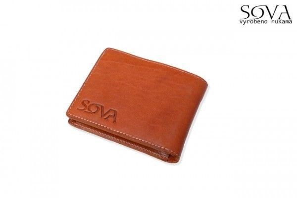 Pánská peněženka kožená TRE, Cognac - Kliknutím zobrazíte detail obrázku.