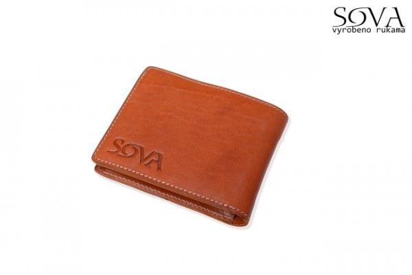 Pánská peněženka kožená TRE, pro leváky, Cognac - Kliknutím zobrazíte detail obrázku.