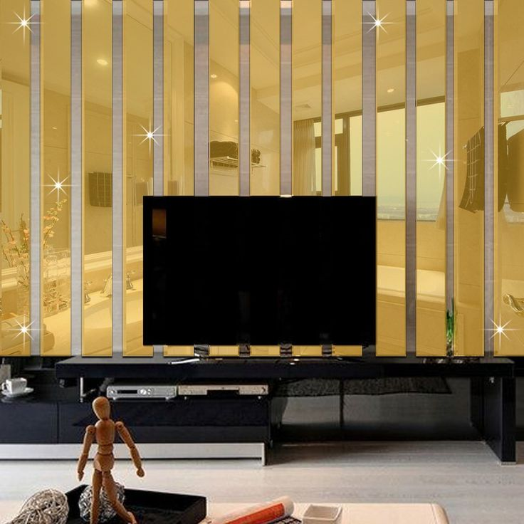 ZJCilected Set of 10 3D Rectangle Mirror Wall Stickers DIY Acrylic Home Decor Decal, Gold * Read more at the image link. (This is an affiliate link and I receive a commission for the sales)