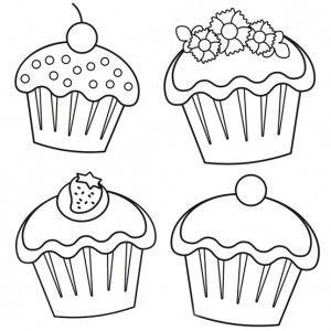 Cute Cupcakes desenhos para pintar Pinterest