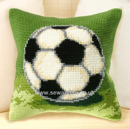 Buy Football Cushion Front Chunky Cross Stitch Kit Online at www.sewandso.co.uk