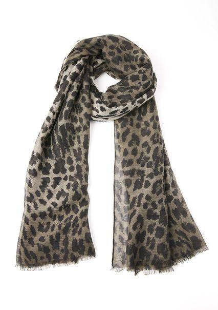 Luchtige sjaal met luipaardprint,