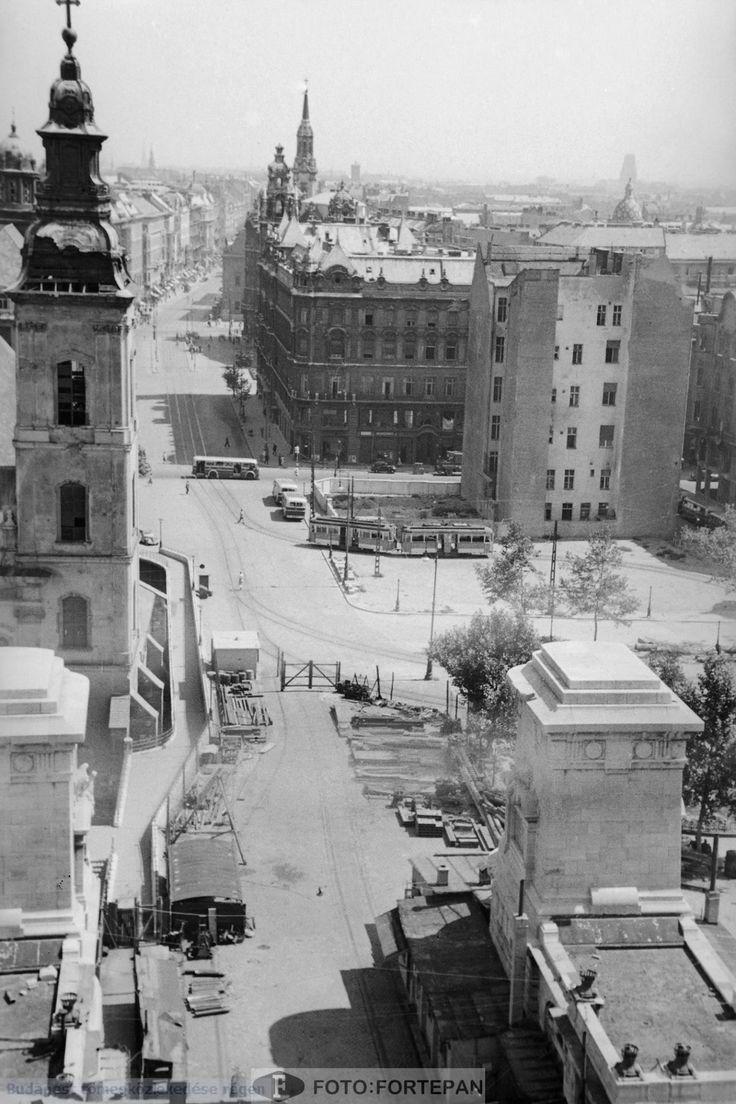 Erzsébet híd, pesti hídfő 1949.