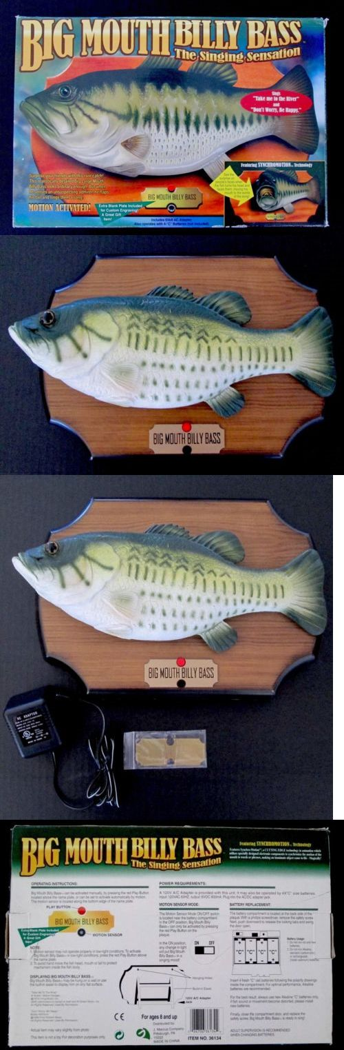 Novelties and Gifts 62143: Big Mouth Billy Bass Singing Fish Electronic Motion Activated Wall Decor -> BUY IT NOW ONLY: $39.95 on eBay!
