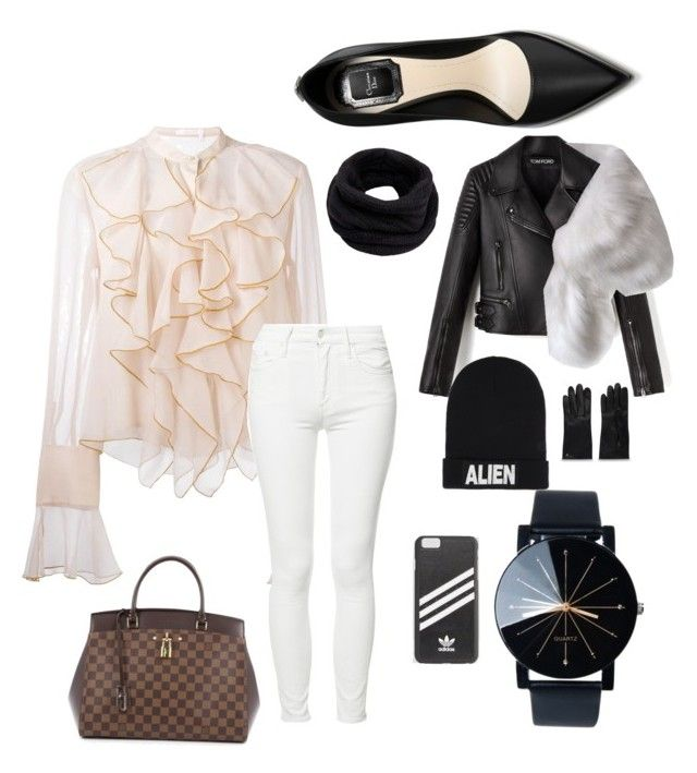 """Untitled #214"" by rekac on Polyvore featuring See by Chloé, Mother, Louis Vuitton, Helmut Lang, Nicopanda and adidas"