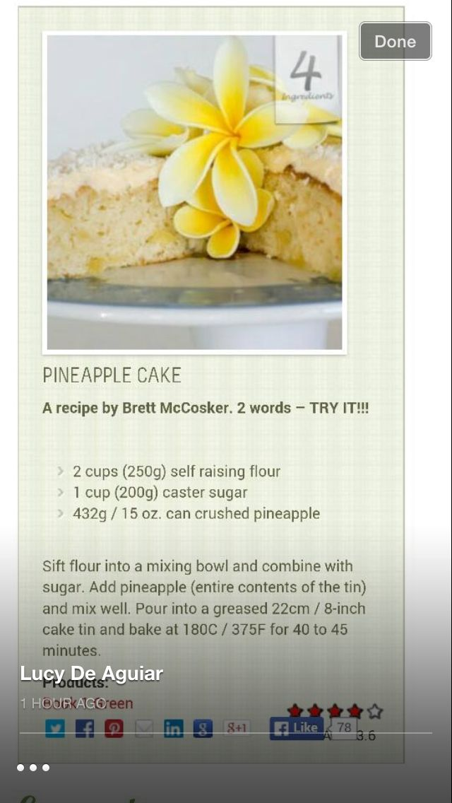 Pineapple cake 3 ingredients