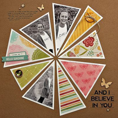 Believe in You Scrapbook Layout by Summer Fullerton for @jillibeansoup